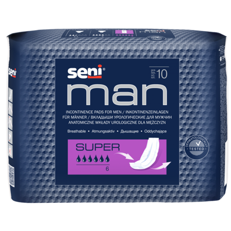 Wkłady anatomiczne Seni Men Super 20 SZT